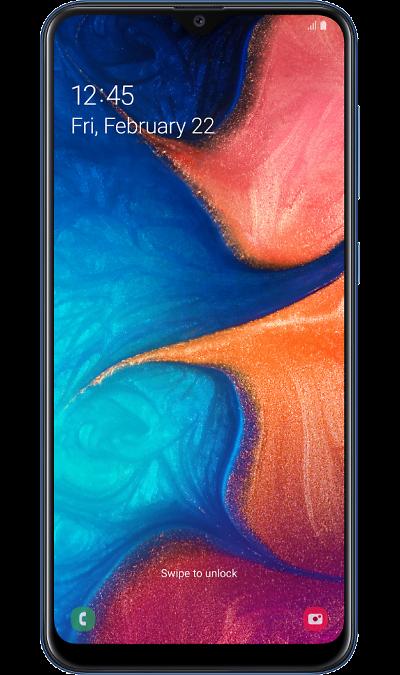 Смартфон Samsung Galaxy A20 Синий