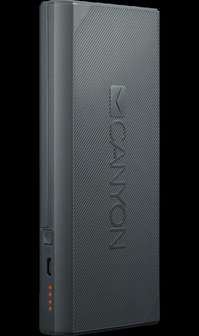 Аккумулятор Canyon CPBF130D, Li-Ion, 13000 мАч, темно-серый фото