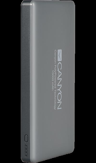 Аккумулятор Canyon TPBP15DG, Li-Pol, 15000 мАч, темно-серый фото