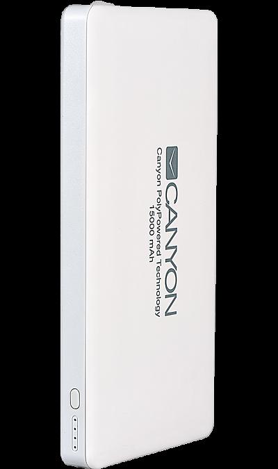 Аккумулятор Canyon TPBP15W, Li-Pol, 15000 мАч, белый фото