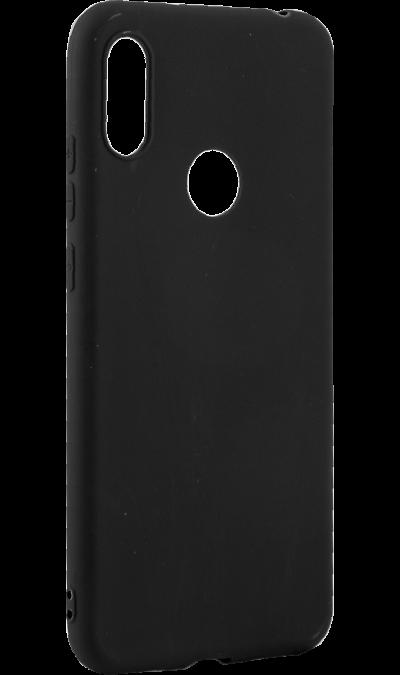 Чехол-крышка LuxCase для Huawei Y6 (2019), полиуретан, черный фото