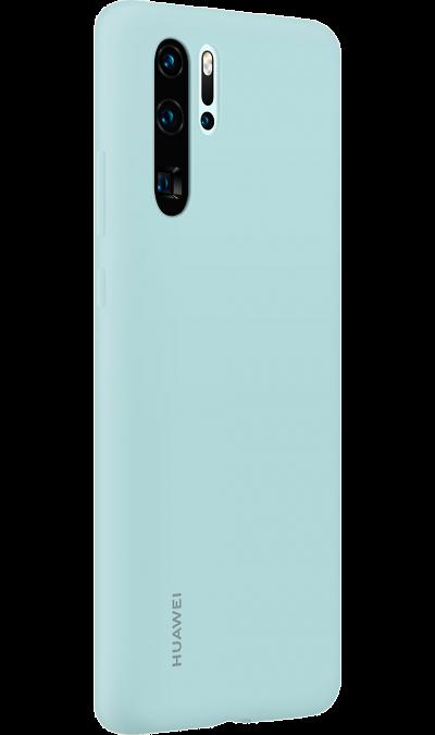 Чехол-крышка Huawei для P30 Pro, силикон, голубой фото
