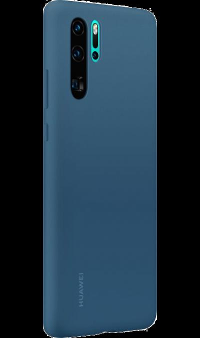 Чехол-крышка Huawei для P30 Pro, силикон, синий фото