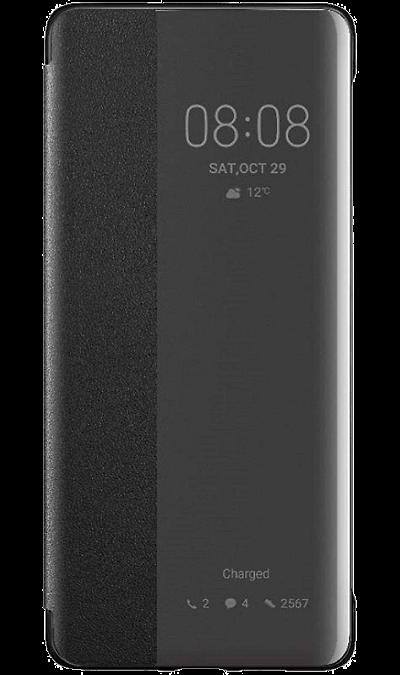 Чехол-книжка Huawei для P30 Pro, полиуретан, черный фото