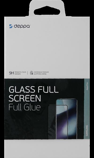 Защитное стекло Deppa для Samsung Galaxy A50 3D Full Glue (черная рамка) фото