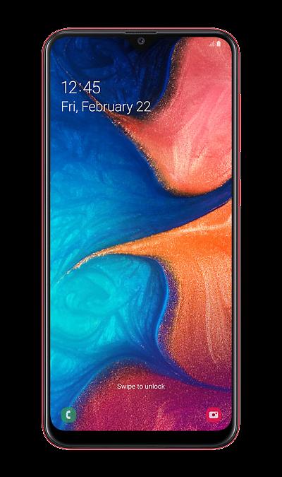 Смартфон Samsung Galaxy A20 Красный