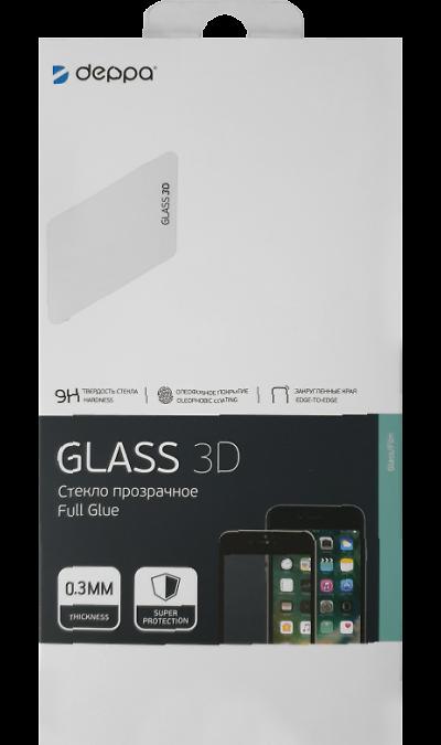 Защитное стекло Deppa для Samsung Galaxy A10 3D Full Glue (черная рамка) фото