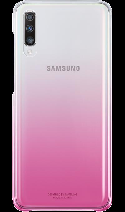 Чехол-крышка Samsung для Galaxy A70, поликарбонат, розовый фото