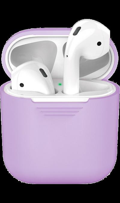 Чехол Deppa для футляра наушников Apple AirPods, силикон, сиреневый