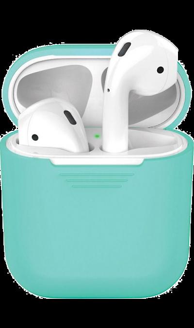 Чехол Deppa для футляра наушников Apple AirPods, силикон, мятный