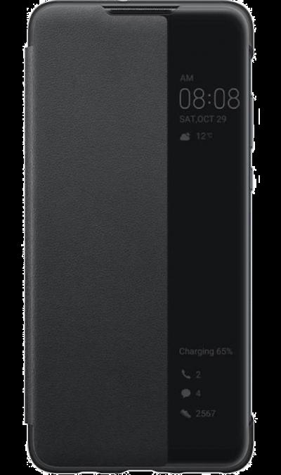 Чехол-книжка Huawei для P30 Lite, полиуретан, черный фото