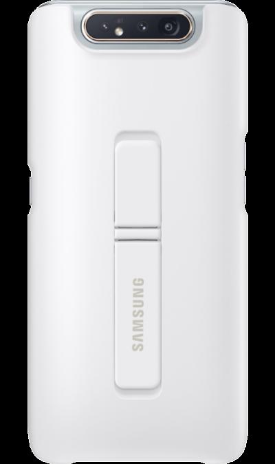 Чехол-крышка Samsung Standing Cover для Galaxy A80, поликарбонат, белый фото