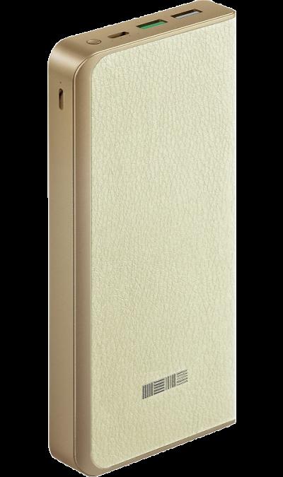 Аккумулятор InterStep PB1618PD, Li-Pol, 16000 мАч, бежевый