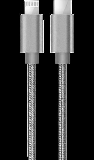 Кабель Bron Type-C - Lightning 1,2 м (серый)