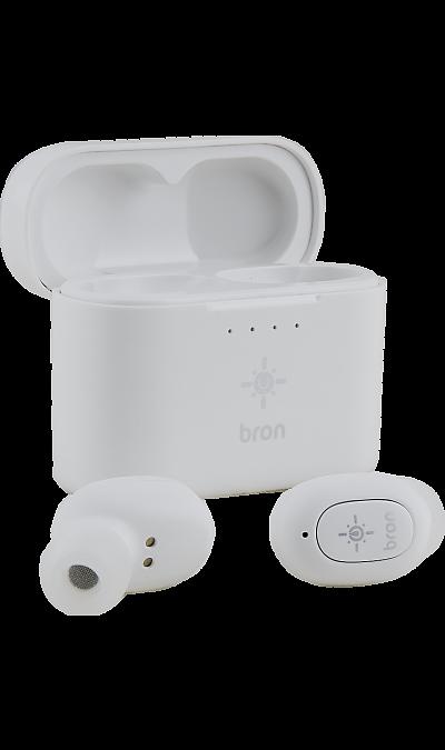 Bluetooth-гарнитура Bron BRN-TWS1-WT (белая)