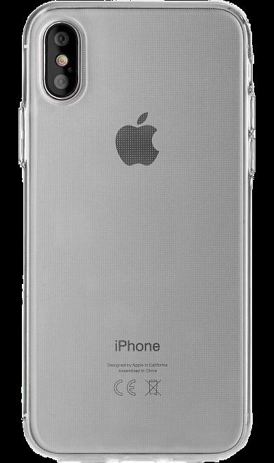 Чехол-крышка Deppa для Apple iPhone X, силикон, прозрачный фото