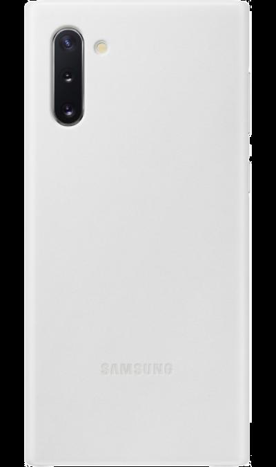 Чехол-крышка Samsung VN970LWEGRU Leather Cover для Galaxy Note10, кожа, белый фото