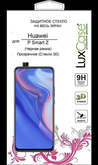 Защитное стекло LuxCase для Huawei P Smart Z 3D Full Glue (черная рамка) фото