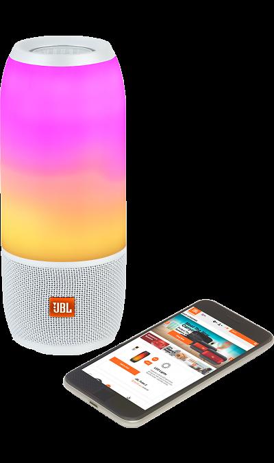 Портативная акустика JBL Pulse 3 White (белая)  - купить со скидкой