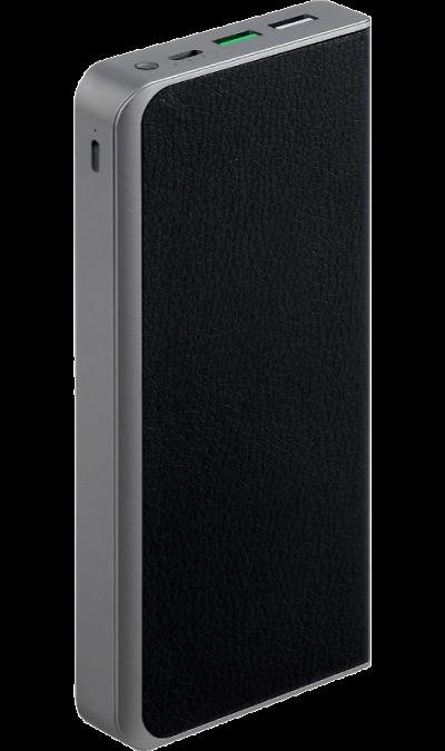 Аккумулятор InterStep PB10Qi, Li-Pol, 10000 мАч, черный (с беспроводной зарядкой)