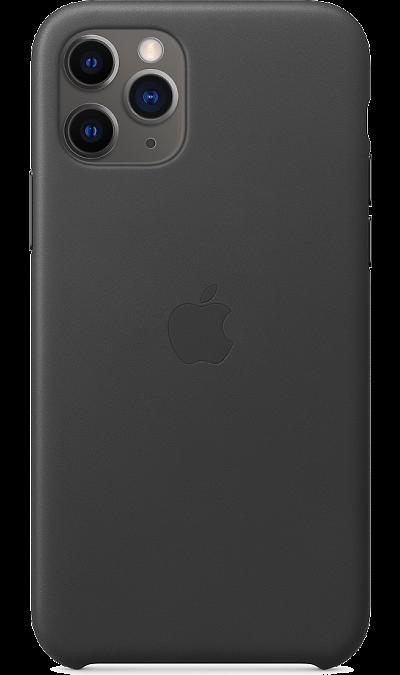 Чехол-крышка Apple для iPhone 11 Pro, кожа, черный фото