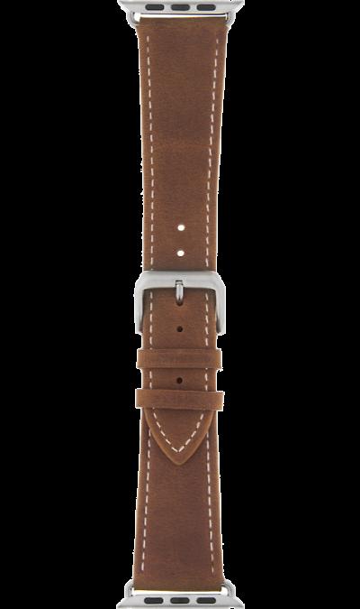 Ремешок InterStep Classic дляApple Watch 38/40mm, кожа, коричневый