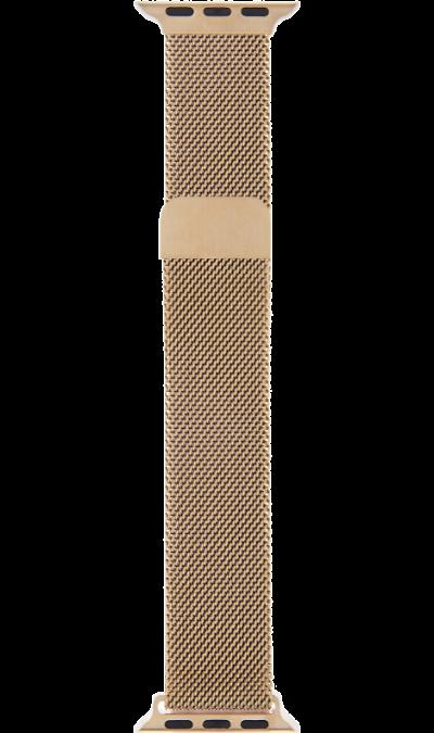 Ремешок InterStep Mesh дляApple Watch 38/40mm, сталь, розовое золото