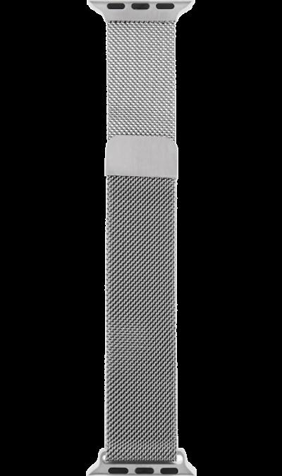 Ремешок InterStep Mesh дляApple Watch 38/40mm, сталь, серебристый