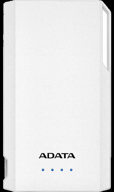 Аккумулятор ADATA S10000, Li-Pol, 10000 мАч, белый