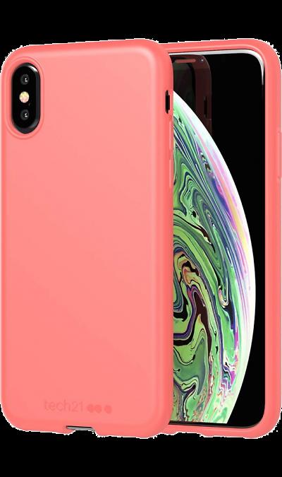 Чехол-крышка Tech21 Studio Colour для iPhone X / XS, полиуретан, коралловый фото
