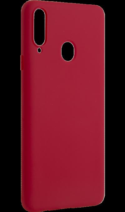 Чехол-крышка New Level для Samsung Galaxy A20s, силикон, красный фото