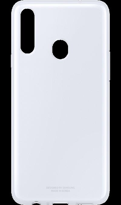Чехол-крышка Samsung Clear Cover для Galaxy А20s, термополиуретан, прозрачный фото