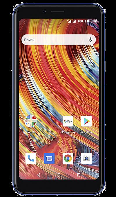 Смартфон Texet TM-5084 4G Blue фото
