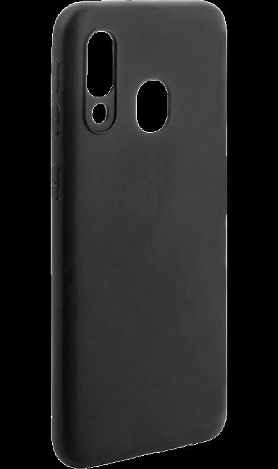 Чехол-крышка New Level для Galaxy A40, полиуретан, черный фото
