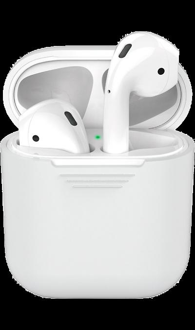 Чехол Deppa для футляра наушников Apple AirPods, силикон, белый