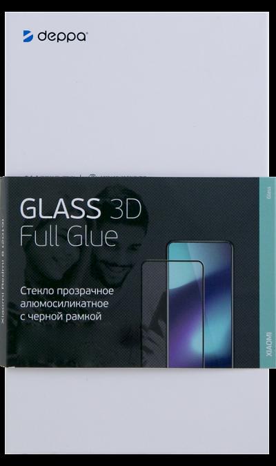 Защитное стекло Deppa для Xiaomi Redmi 8 3D Full Glue (черная рамка) фото
