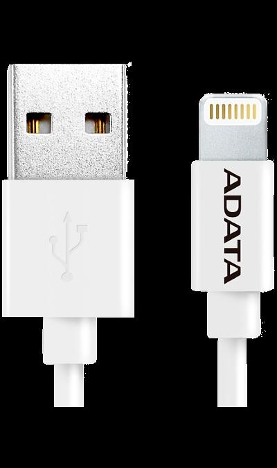 Кабель ADATA AMFIPL-100CM-C USB - Lightning (белый)  - купить со скидкой