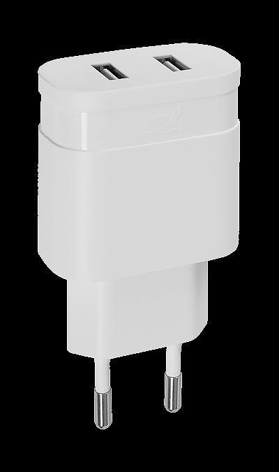 Зарядное устройство сетевое RIVACASE PS4122 2,4A 2USB (белое) Зарядное устройство сетевое RIVACASE PS4122 2,4A 2USB (белое)