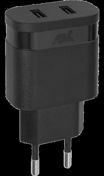 Зарядное устройство сетевое RIVACASE PS4122 2,4A 2USB (черное) Зарядное устройство сетевое RIVACASE PS4122 2,4A 2USB (черное)