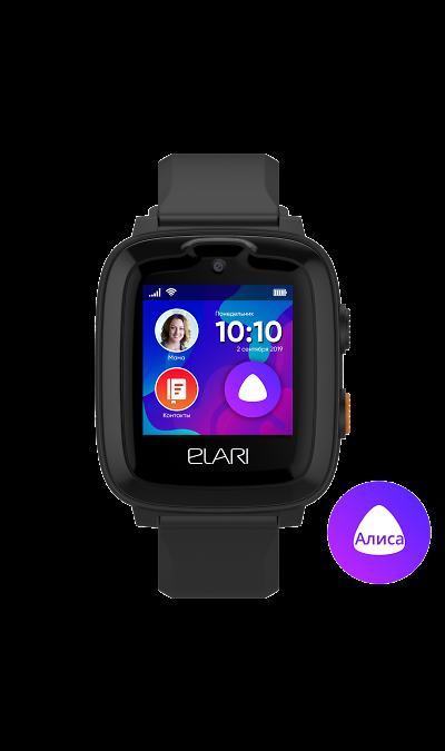 Часы Elari KidPhone 4G Черные фото