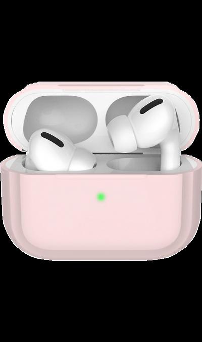 Чехол Deppa для футляра наушников Apple AirPods Pro, силикон, розовый фото