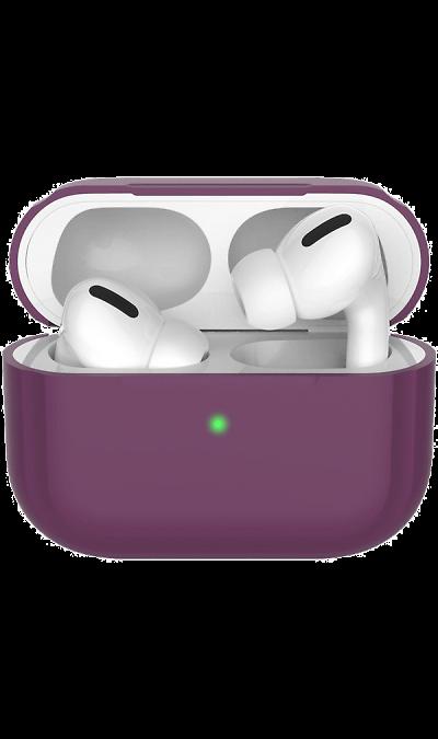 Чехол Deppa для футляра наушников Apple AirPods Pro, силикон, бордовый