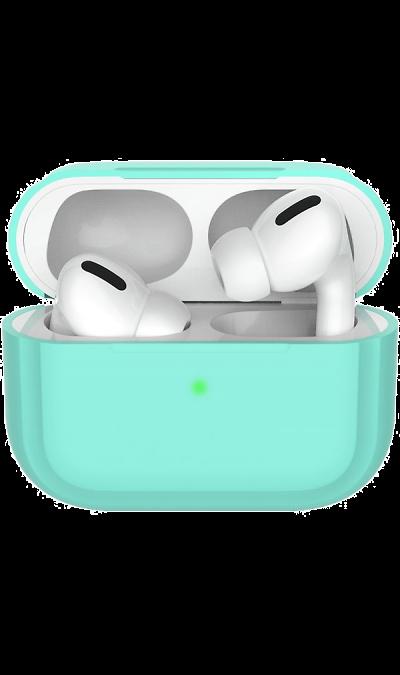 Чехол Deppa для футляра наушников Apple AirPods Pro, силикон, мятный