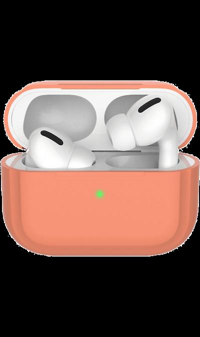 Чехол Deppa для футляра наушников Apple AirPods Pro, силикон, персиковый