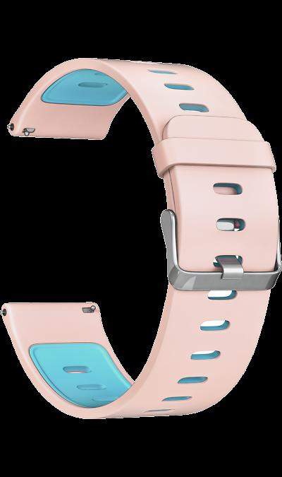 Ремешок Lyambda Adhara 22 мм, силикон, розовый фото