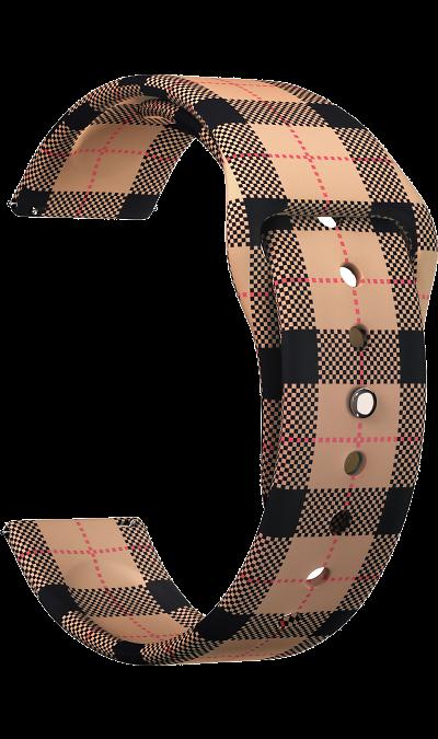 Ремешок Lyambda Urban 20 мм, силикон, коричневый фото