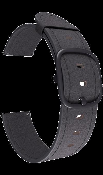 Ремешок Lyambda Minkar 22 мм, кожа, черный фото