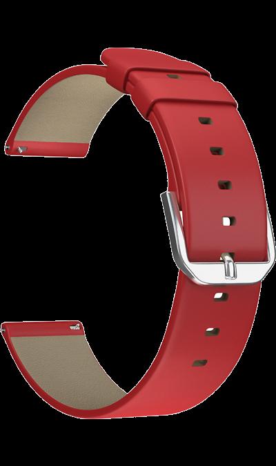 Ремешок Lyambda Minkar 22 мм, кожа, красный фото