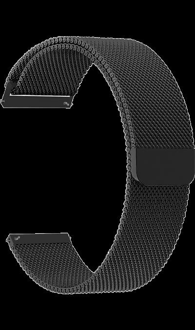 Ремешок Lyambda Capella 20 мм, сталь, черный