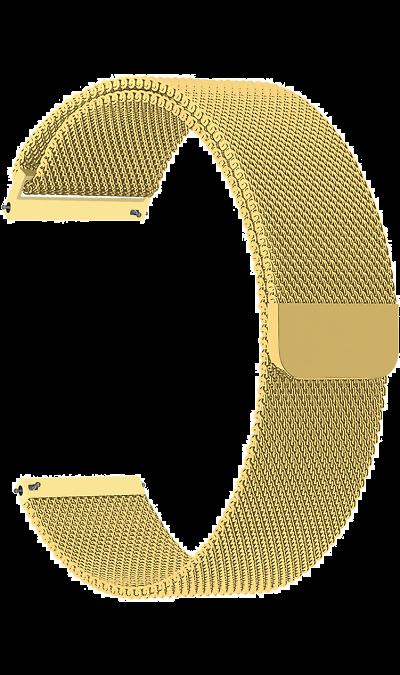 Ремешок Lyambda Capella 20 мм, сталь, золотистый фото